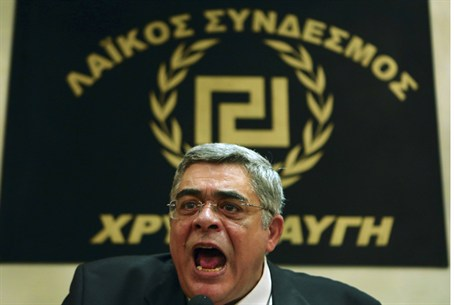 Golden Dawn party leader Nikolaos Mihaloliak