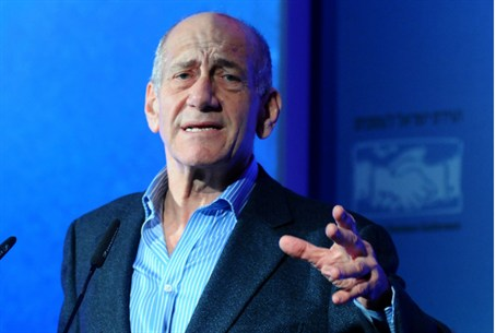 Olmert at the Israel Business Conference
