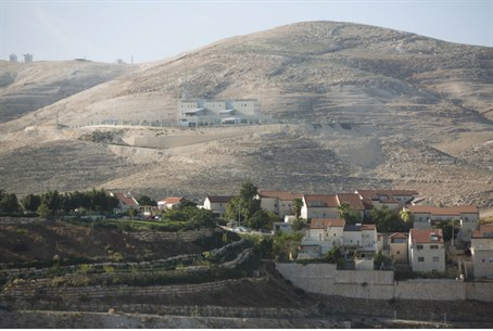Maaleh Adumim, with E1, background, near Jeru