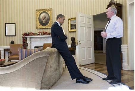 Brennan briefs Obama in the White House