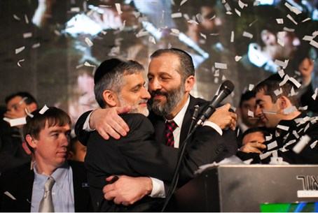Aryeh Deri and Eli Yishai of Shas