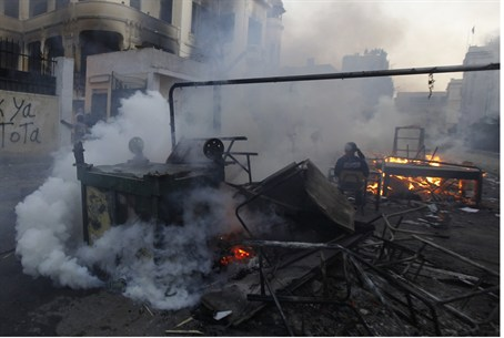 Cairo police fired tear gas at protesters