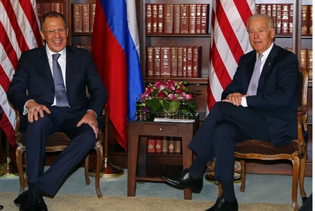 Russia's FM Lavrov and U.S. VP Joe Biden meet