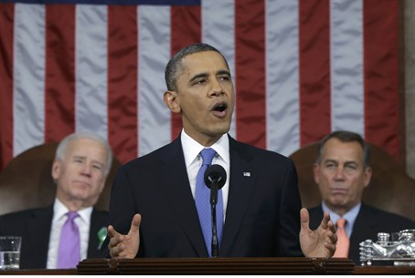 Obama during 2013 State of the Union