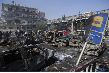 After the car bombing in Damascus