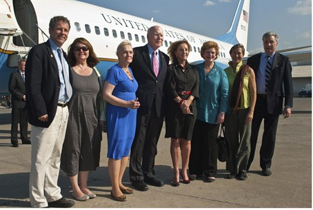 A U.S. congressional delegation, led by Leah