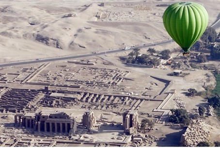 Egyptian hot air balloon