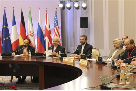 Members of the Iranian delegation to the nucl