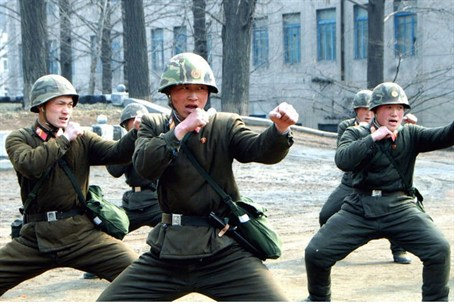 Soldiers of the Korean People's Army (KPA) in