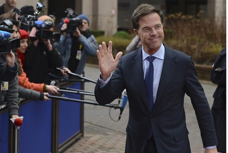 The Netherlands' Prime Minister Mark Rutte