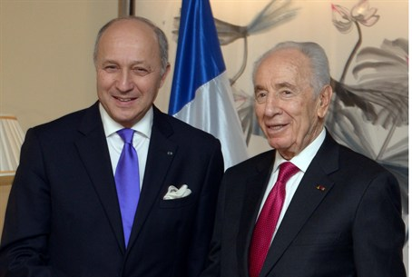 President Shimon Peres and French Foreign Min