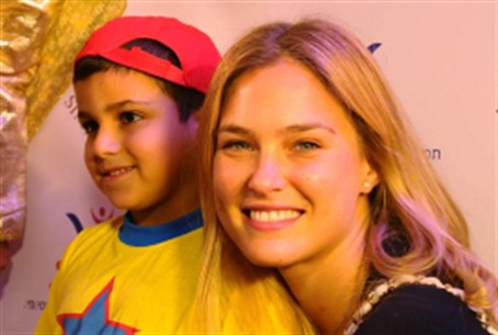 Bar Refaeli at an event for cancer patients