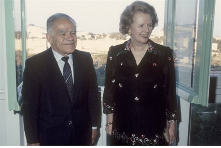 British PM Margaret Thatcher in Israel
