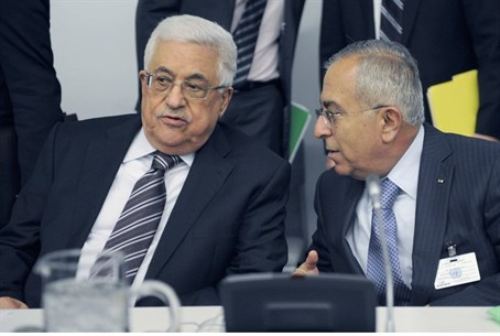 Abbas and outgoing PM Salam Fayyad