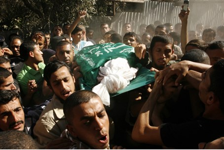 Funeral for terrorist killed in airstrike (ar