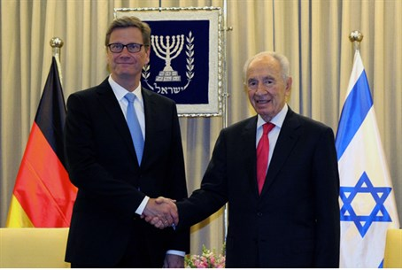 President Shimon Peres and German Foreign Min