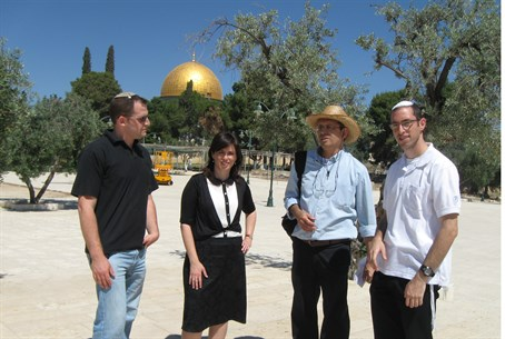 MK Hotovely (second left) on the Temple Mount