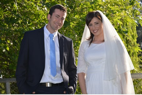 MK Tzippy Hotovely and her new husband before