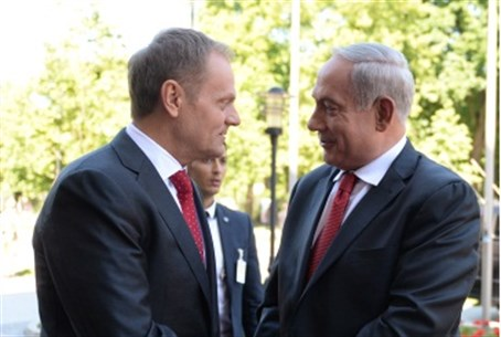 Netanyahu  and Tusk in Poland
