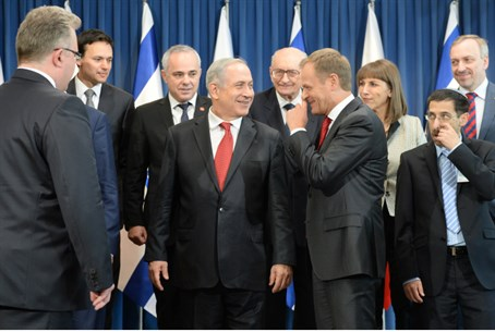 Netanyahu and government ministers in Poland