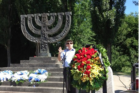 Natan Sharansky speaks at Babi Yar