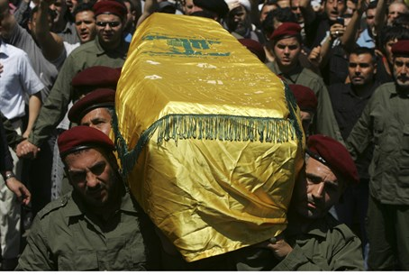 Burial of Hezbollah fighter killed in Syria