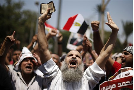 (Illustration) Islamists demonstrate in Egypt