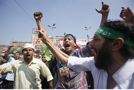 Muslim Brotherhood supporters at Cairo rally