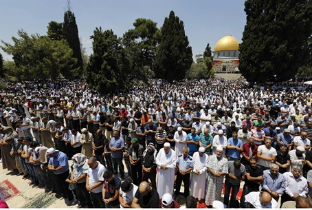 Ramadan prayers in Jerusalem (illustrative)