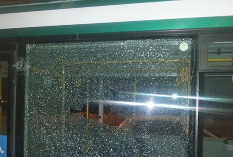 Bus targeted by rock attack (archive)