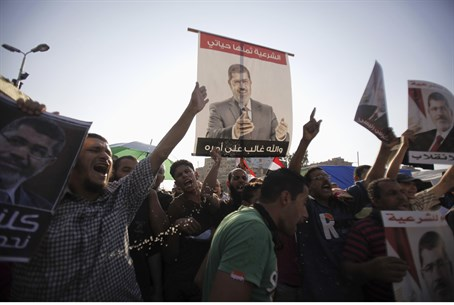 Morsi supporters protest at Rabaa Adawiya Squ