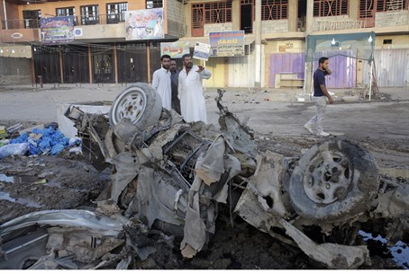Aftermath of suicide bombing (illustrative)