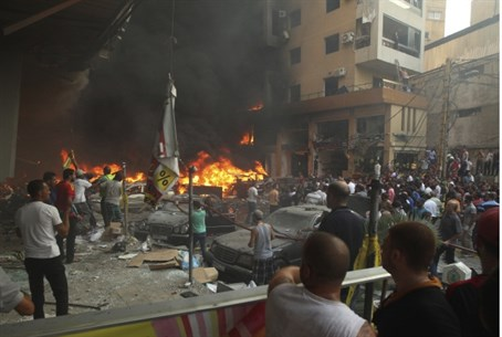 Scene of explosion in Beirut