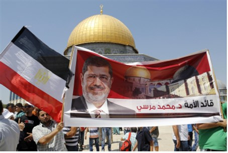 Pro-Morsi rally on Temple Mount