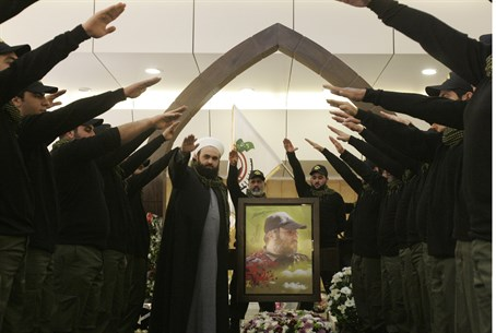 Illustration: Hezbollah supporters at memoria