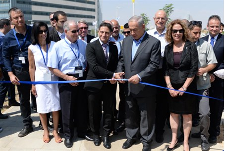 Netanyahu cuts ribbon on hi-tech park