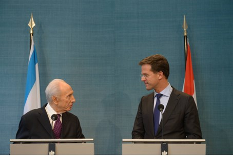 President Shimon Peres and Dutch prime minist