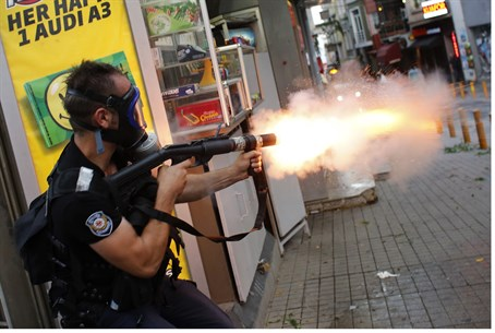 Police fire teargas towards protest in Turkey