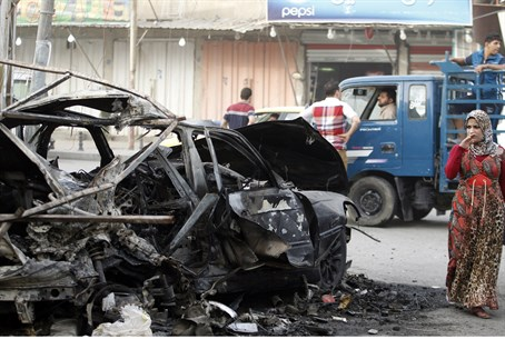 Bomb attack in Baghdad (illustrative)