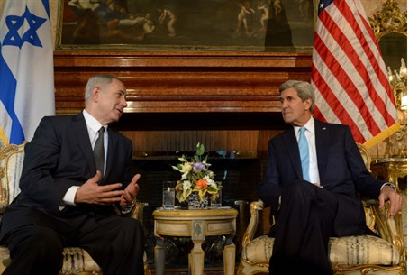 Netanyahu and Kerry (archive)