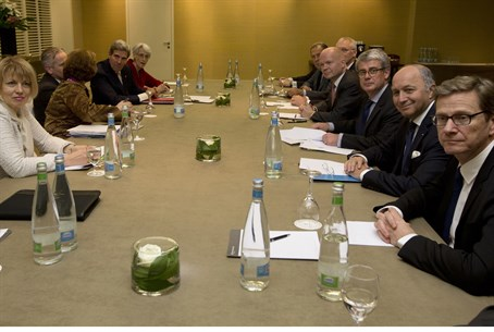 Foreign ministers during nuclear talks with I