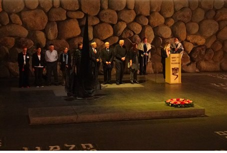 Kristallnacht Memorial ceremony at Yad Vashem