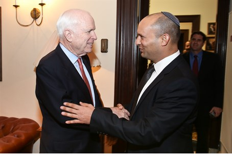 Naftali Bennett Meets John McCain in Washingt