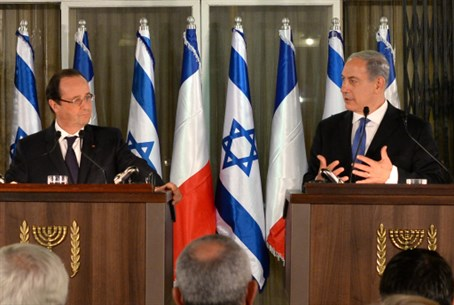 Netanyahu and Hollande hold joint press confe