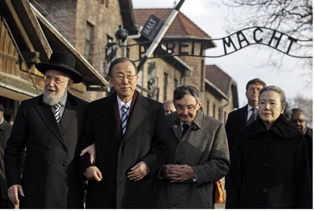 UN Secretary General Ban Ki-moon in Auschwitz