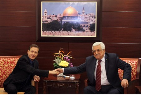 Herzog and Abbas in Ramallah