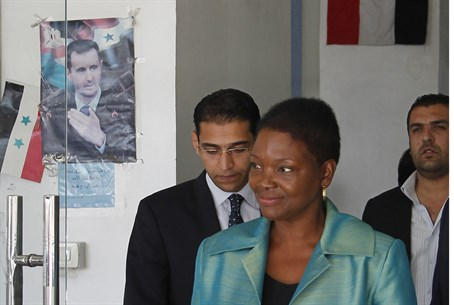 UN humanitarian chief Valerie Amos in Syria 2