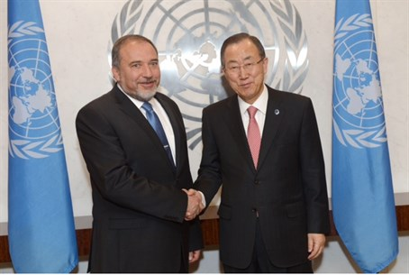 Foreign Minister Lieberman with UN Secretary