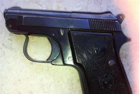 The pistol confiscated by police