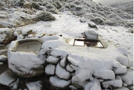 Snow in Ofra, Samaria